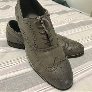Nunn Bush grey leather wingtip